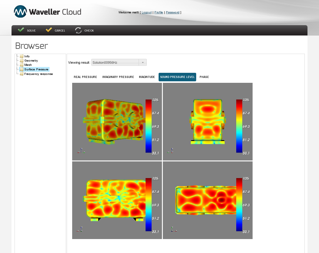 Waveller Cloud surface pressure view